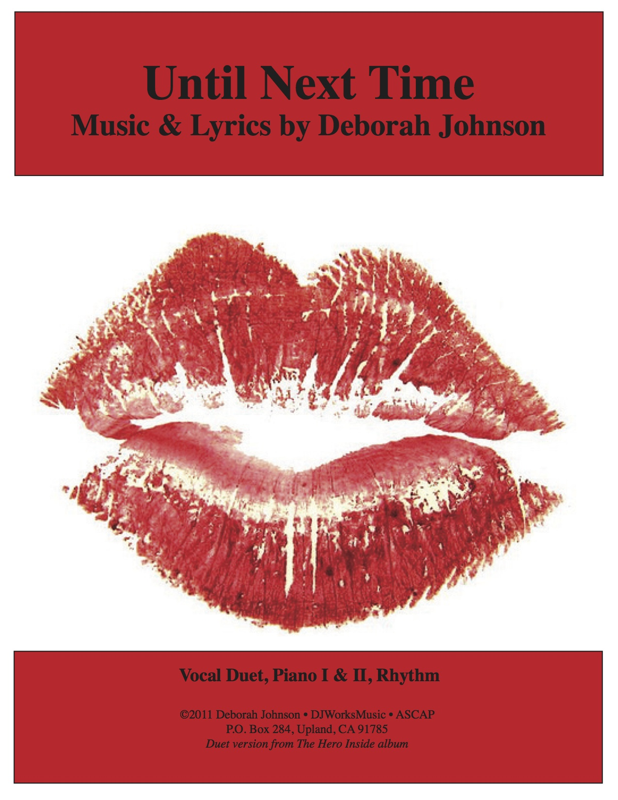 Until Next Time Sheet Music Cover